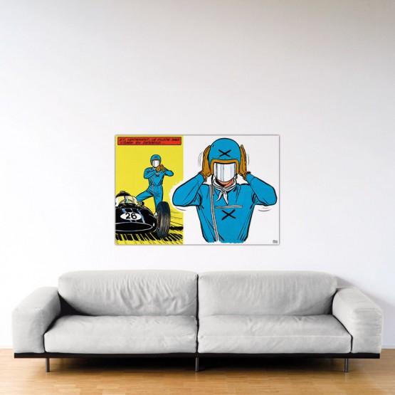 Le Pilote Sans Visage - Dibond sous Plexiglas - Format: 80x120 cm