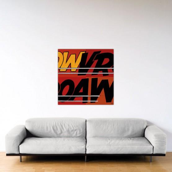 Vroaw - Dibond sous plexiglas - Format: 100x100 cm