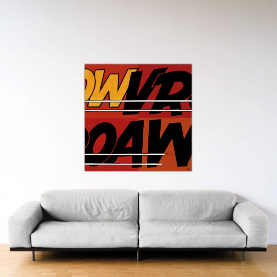 Vroaw - Dibond sous plexiglas - Format: 120x120 cm