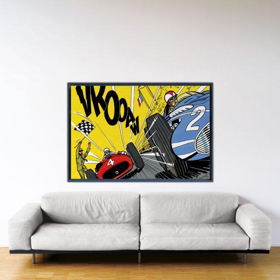Victoire Au Nürburgring – Papier Fine Art en caisse américaine noire – Format: 100x150 cm
