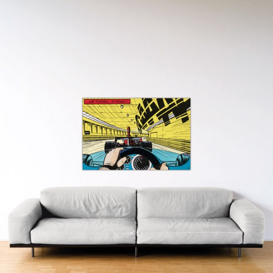 À fond !- Dibond sous Plexiglas - Format: 80x120 cm