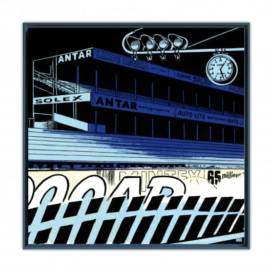 Le Mans Fantastique - Papier Fine Art en caisse américaine noire