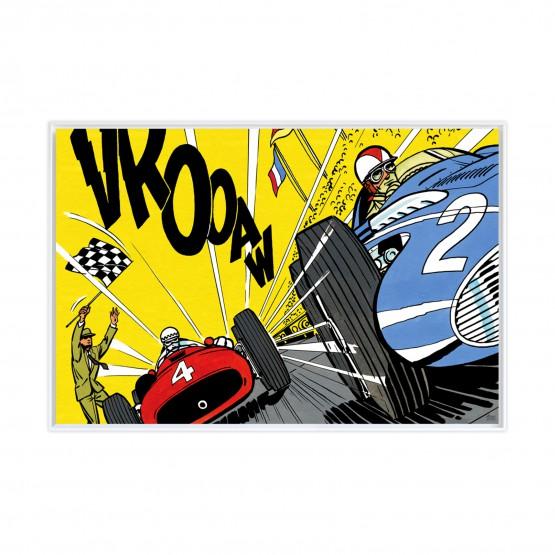 Victoire au Nürburgring - Papier Fine Art en caisse américaine blanche