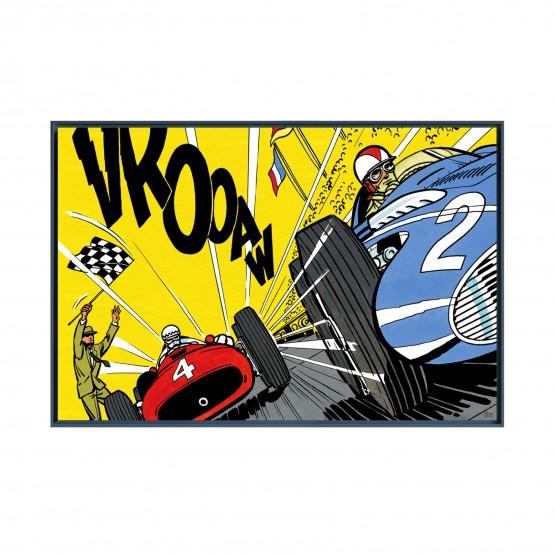 Victoire au Nürburgring - Papier Fine Art en caisse américaine noire