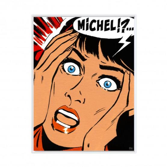 Michel !? - Papier Fine Art en caisse américaine blanche