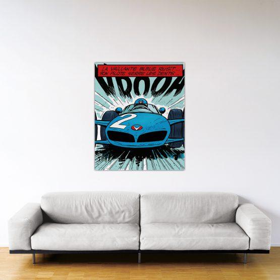 La Vaillante Bleue – Dibond sous plexiglas – Format: 120x100 cm