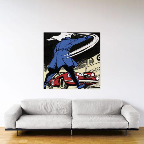 Départ au Monte-Carlo – Dibond sous plexiglas – Format: 120x120 cm