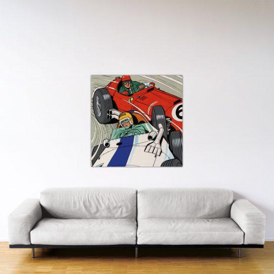 Michel Vaillant Art Strips 30 Duel A Francorchamps 100x100