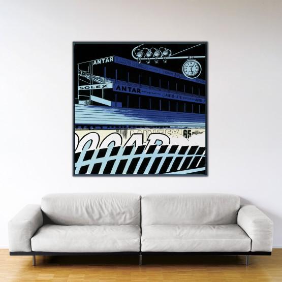 Le Mans fantastique - Papier Fine Art en caisse américaine noire - Format: 140x140 cm