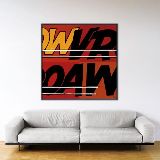 Vroaw - Papier Fine Art en caisse américaine noire - Format: 140x140 cm