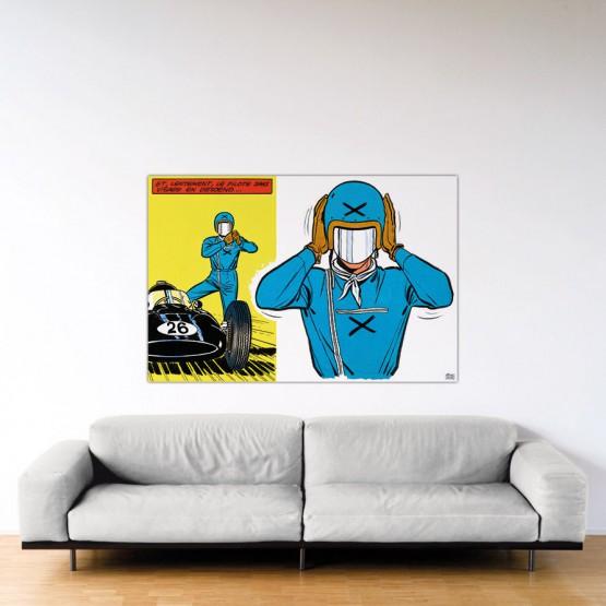 Le Pilote Sans Visage - Dibond sous Plexiglas - Format: 100x150 cm