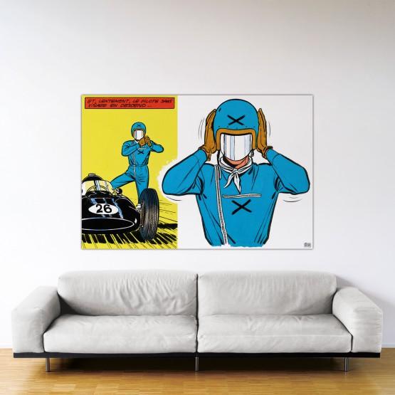 Le pilote sans visage - Dibond sous plexiglas - Format: 120x180 cm