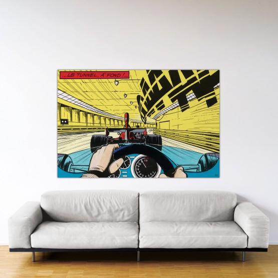 À fond !- Dibond sous Plexiglas - Format: 120x180 cm