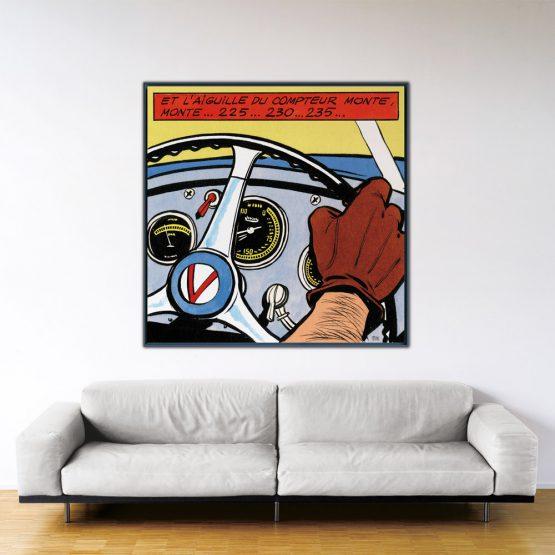 La Vaillante Prend Le Large - Papier Fine Art en caisse américaine noire - 140x140 cm