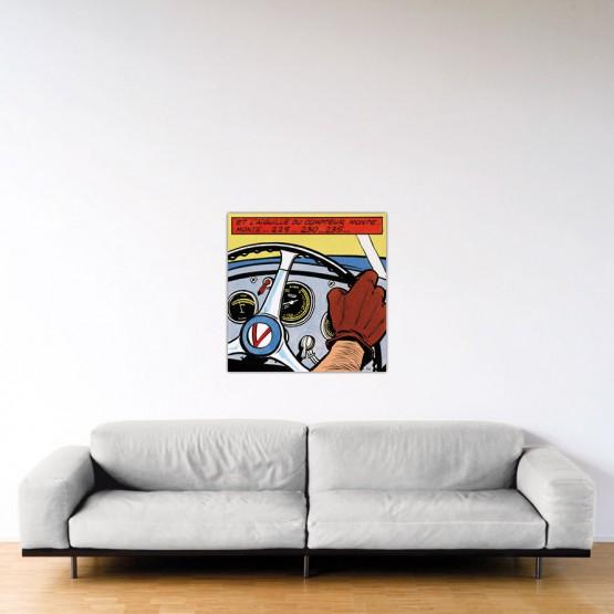 La Vaillante Prend Le Large - Dibond sous plexiglas - Format: 80x80 cm