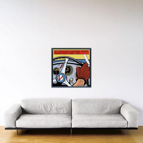 La Vaillante Prend Le Large - Papier Fine Art en caisse américaine noire - 80x80 cm
