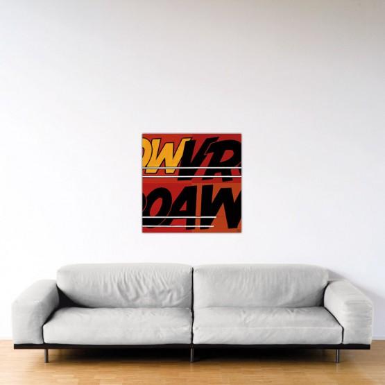 Vroaw - Dibond sous plexiglas - Format: 80x80 cm
