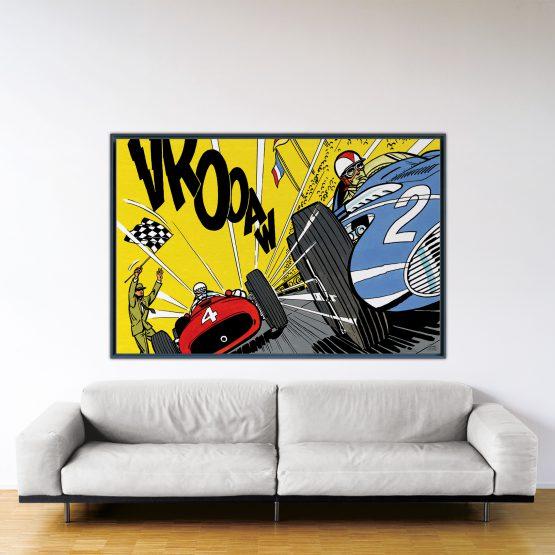 Victoire Au Nürburgring – Papier Fine Art en caisse américaine noire – Format: 120x180 cm
