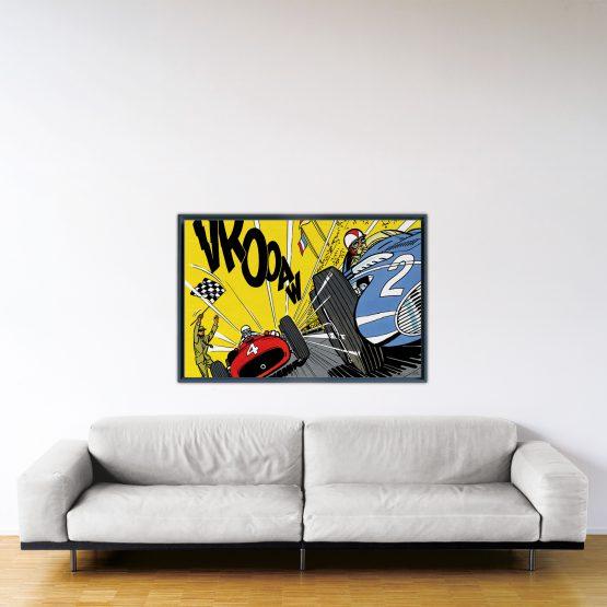 Victoire Au Nürburgring – Papier Fine Art en caisse américaine noire – Format: 80x120 cm