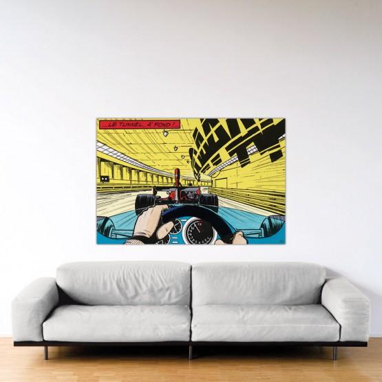À fond !- Dibond sous Plexiglas - Format: 100x150 cm