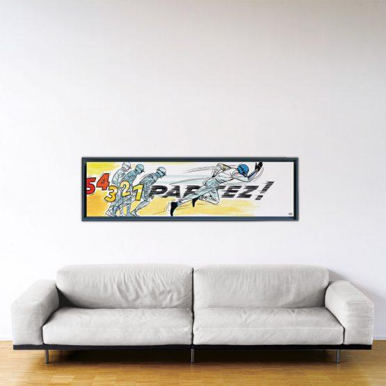 Partez! - Papier Fine Art en caisse américaine noire - 40x150 cm