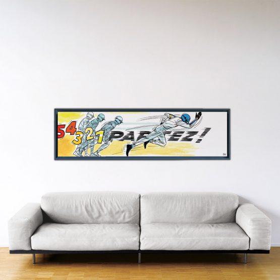 Partez! - Papier Fine Art en caisse américaine noire - 53x200 cm