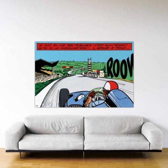 Francorchamps – Dibond sous plexiglas – Format: 120x180 cm