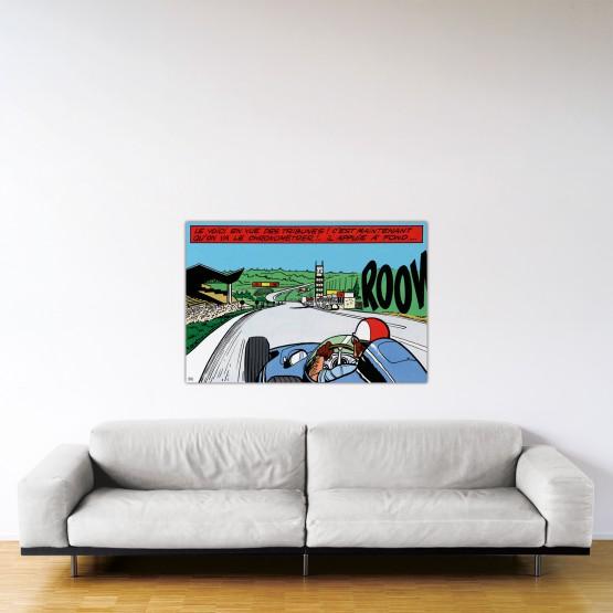 Francorchamps – Dibond sous plexiglas – Format: 80x120 cm
