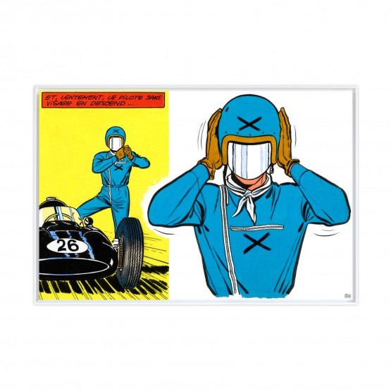 Le pilote sans visage - Papier Fine Art en caisse américaine blanche