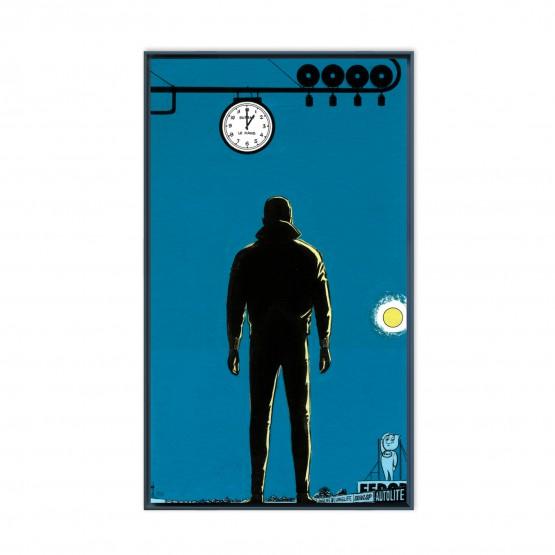 Le fantôme des 24 Heures - Papier Fine Art en caisse américaine noire