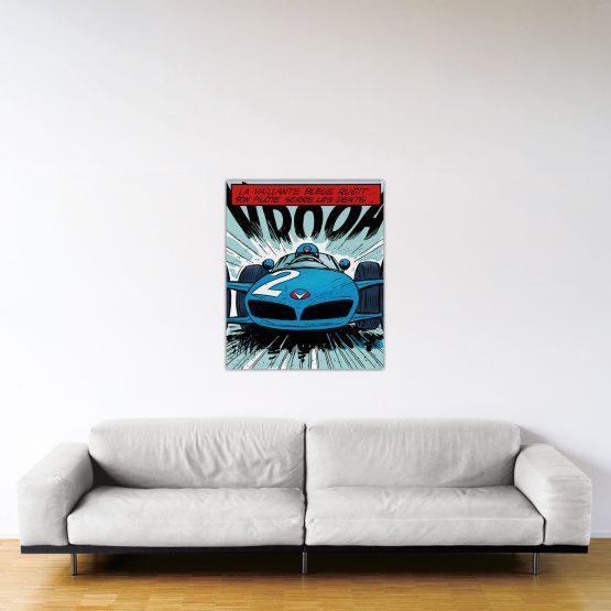 Michel Vaillant Art Strips 21 La Vaillante Bleue 96x80