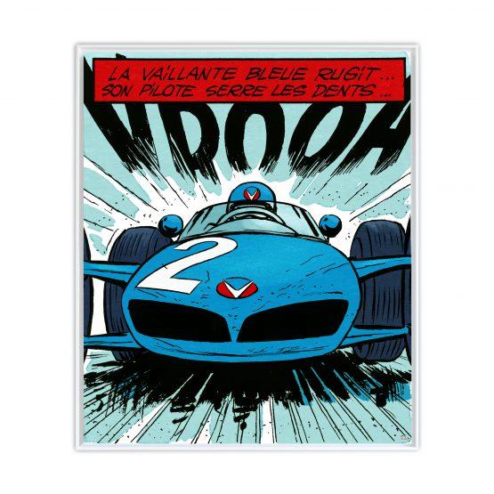 Michel Vaillant Art Strips 21 La Vaillante Bleue Usblanc