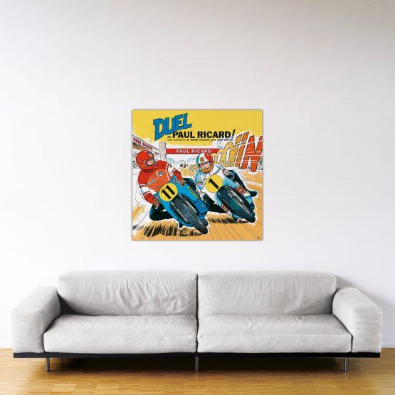 Duel au Paul Ricard – Dibond sous plexiglas – Format: 100×100 cm