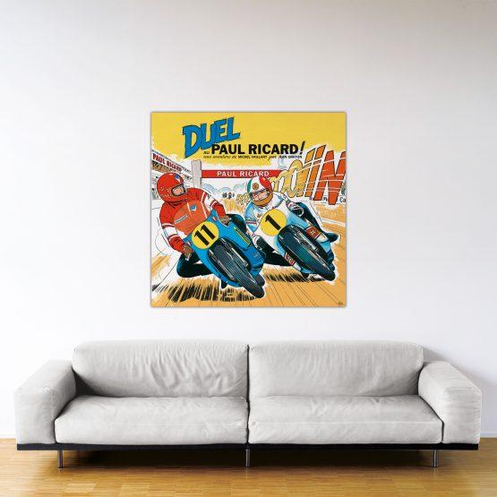 Duel au Paul Ricard – Dibond sous plexiglas – Format: 120×120 cm