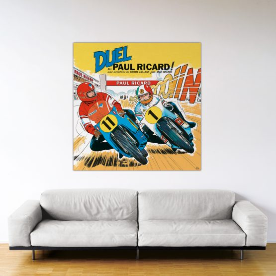 Duel au Paul Ricard – Dibond sous plexiglas – Format: 140x140 cm