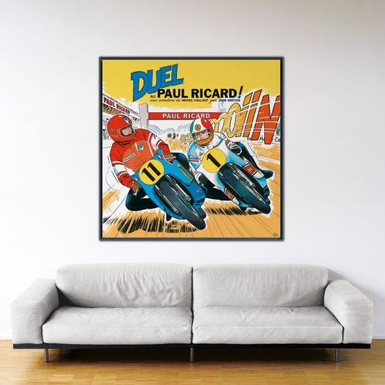 Duel au Paul Ricard – Papier Fine Art en caisse américaine noire – Format: 140x140cm