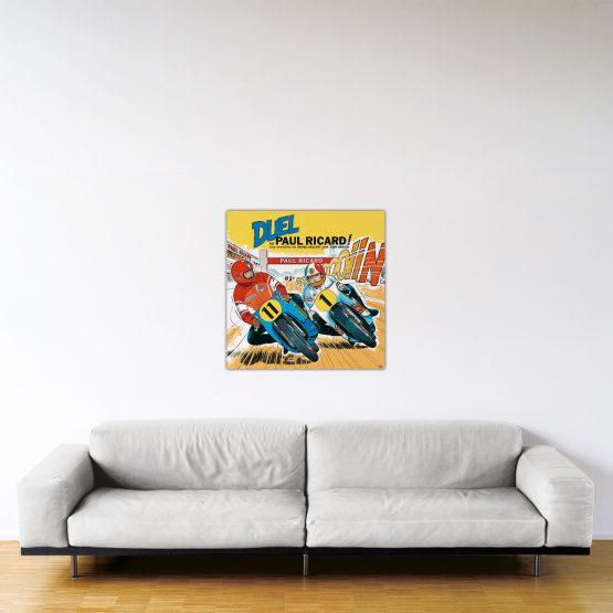 Duel au Paul Ricard – Dibond sous plexiglas – Format: 80×80 cm