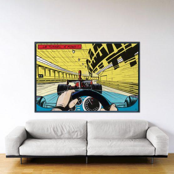 À fond - Papier Fine Art en caisse américaine noire - 120x180 cm