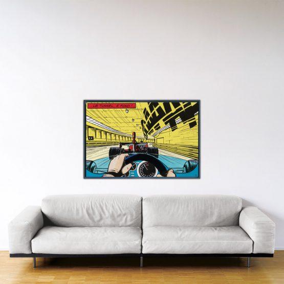 À fond - Papier Fine Art en caisse américaine noire - 80x120 cm
