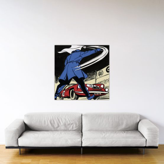 Départ au Monte-Carlo – Dibond sous plexiglas – Format: 100x100 cm