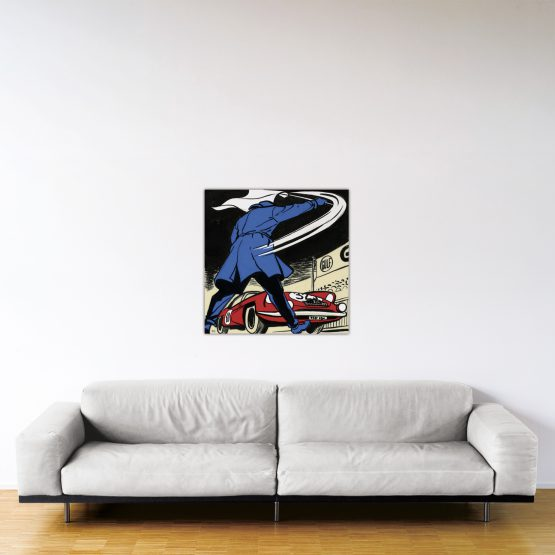 Départ au Monte-Carlo – Dibond sous plexiglas – Format: 80x80 cm
