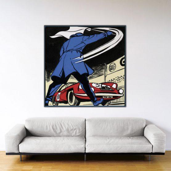 Départ au Monte-Carlo – Papier Fine Art en caisse américaine noire – Format: 140x140 cm