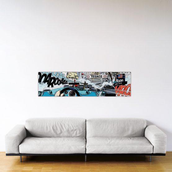 Monaco Start – Dibond sous plexiglas – Format: 40×150 cm