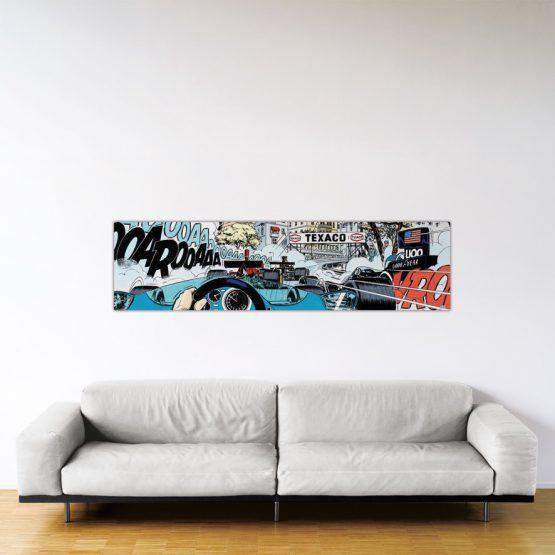 Monaco Start – Dibond sous plexiglas – Format: 53x200 cm