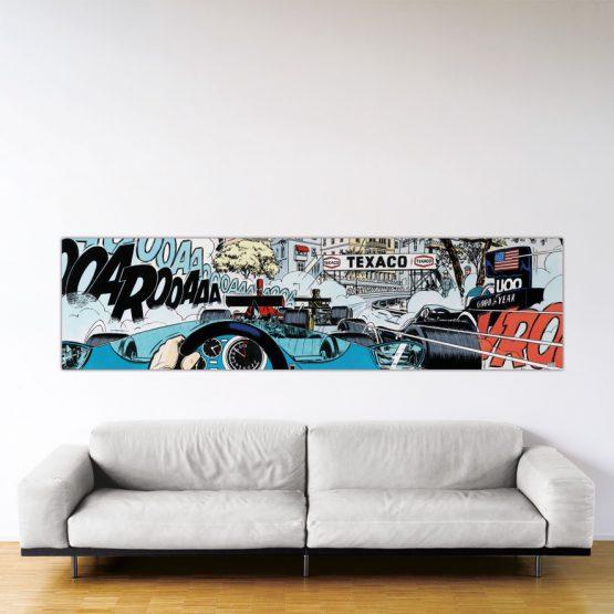 Monaco Start – Dibond sous plexiglas – Format: 66x250 cm