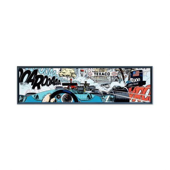 Monaco Start – Papier Fine Art en caisse américaine noire