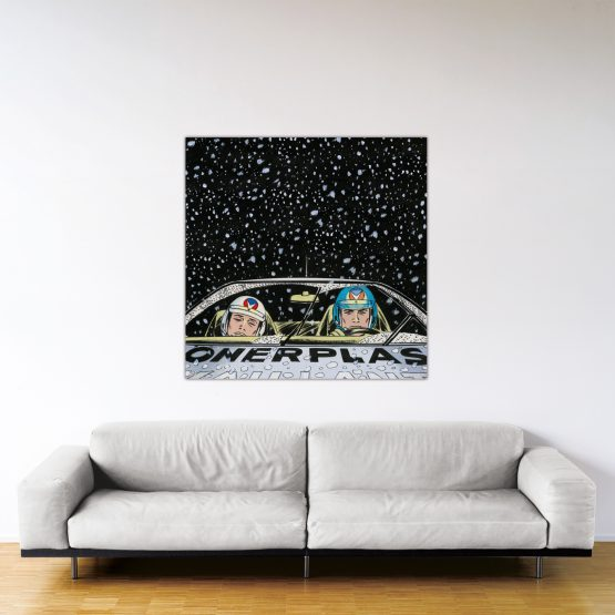 Monte-Carlo Snow – Dibond sous plexiglas – Format: 120x120 cm