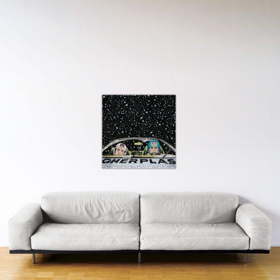 Monte-Carlo Snow – Dibond sous plexiglas – Format: 80x80 cm