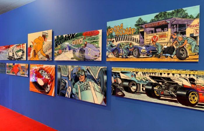 Michel Vaillant Art Strips   Exposition   Salon Auto Moto de Bruxelles 2020